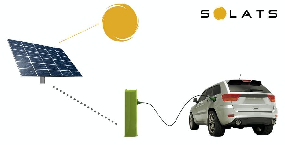 placas solares coche eléctrico