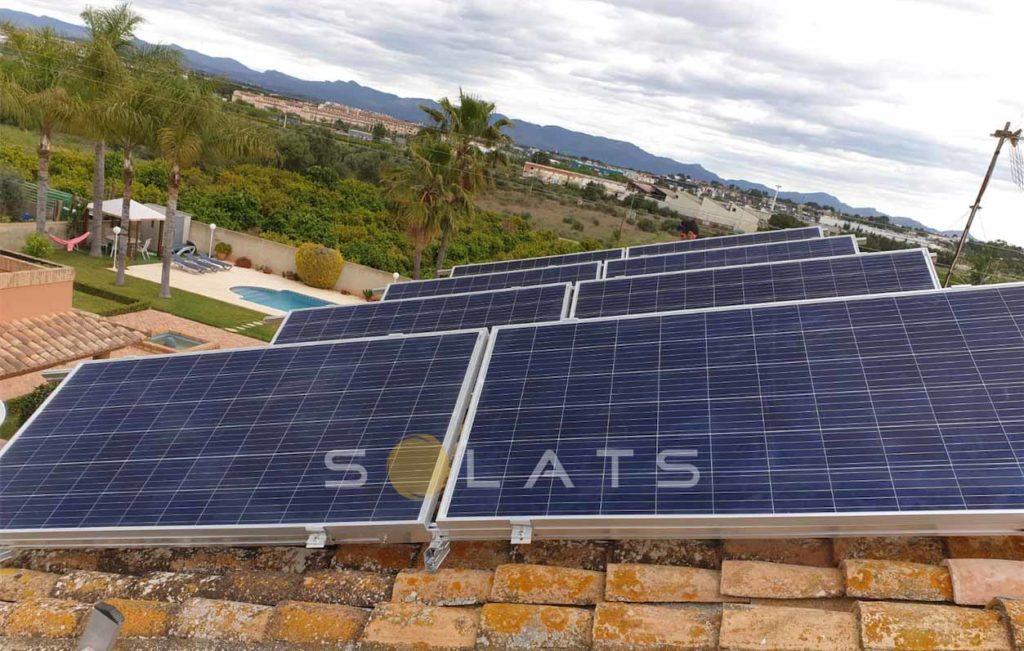 Energía solar en casa particular