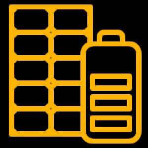 placas solares y baterías