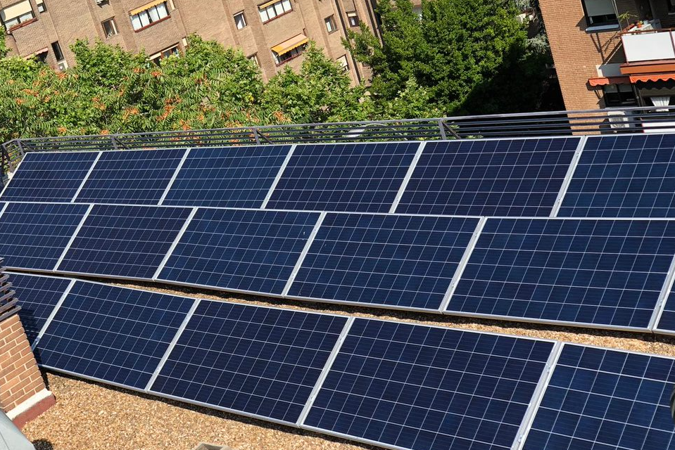 placas solares en edificios